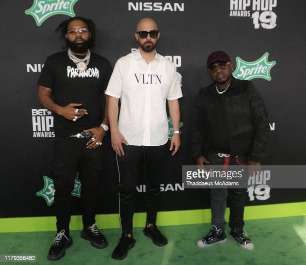 Money Man Ghazi and Peewee The Long way arrive to the 2019 BET Hip Hop Awards on October 05 2019 in Atlanta Georgia