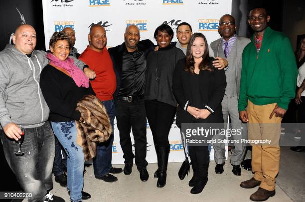 Money Nells Richard Nash Damon Lot Craig Davis Cynthia Johson Nadine Santos Troy Dudly and Deon Cole attend The Music Choice and Celebrity Page TV...