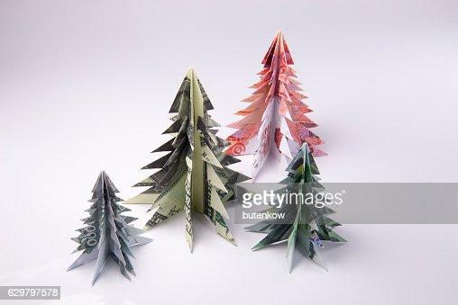Very EASY Money Christmas TREE Origami Dollar Tutorial DIY - YouTube | 339x508