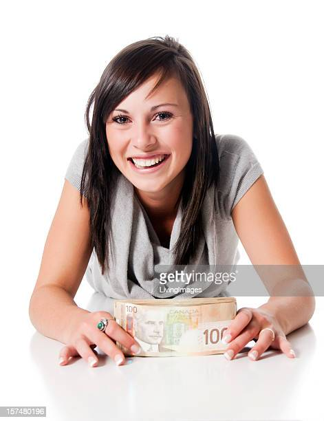 money - canadian one hundred dollar bill stock pictures, royalty-free photos & images