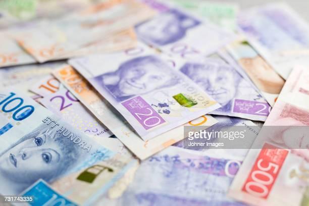 money - スウェーデン通貨 ストックフォトと画像