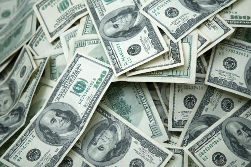 Money Pile $100 dollar bills 157308559