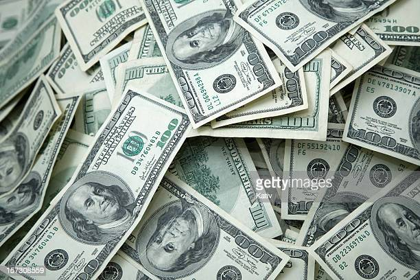 money pile $100 dollar bills - heap stock pictures, royalty-free photos & images