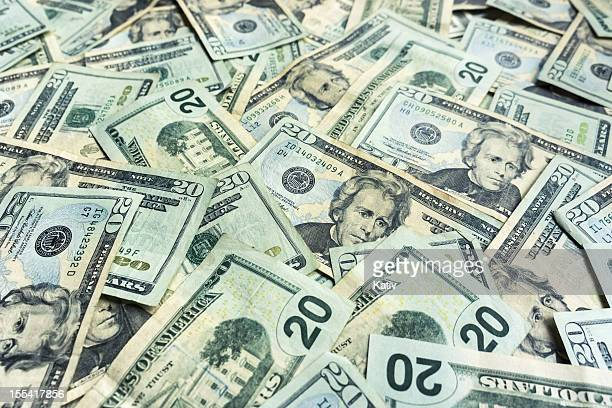 money pile $20 dollar bills - number 20 stock pictures, royalty-free photos & images