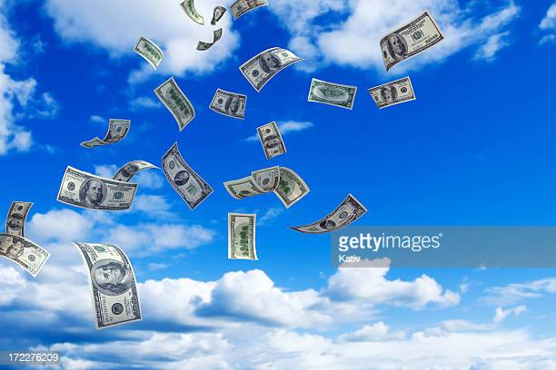 money rain - dollar sign stock pictures, royalty-free photos & images