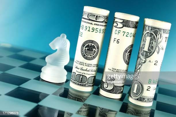 Money rolls on chess board