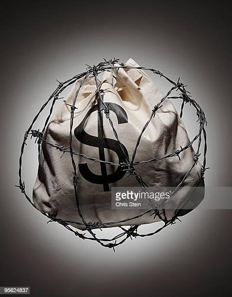 Money Security Barbwire