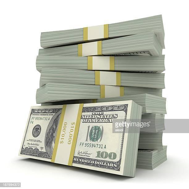 soldi fiammeggiante - catasta foto e immagini stock