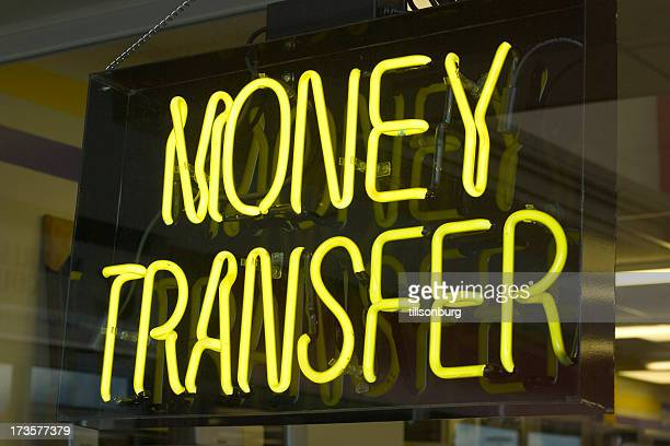 money transfer neon - send stock pictures, royalty-free photos & images