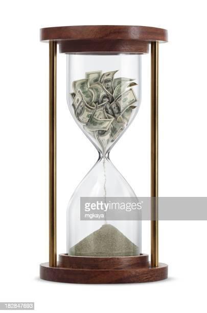 in Sanduhr, Geld machen