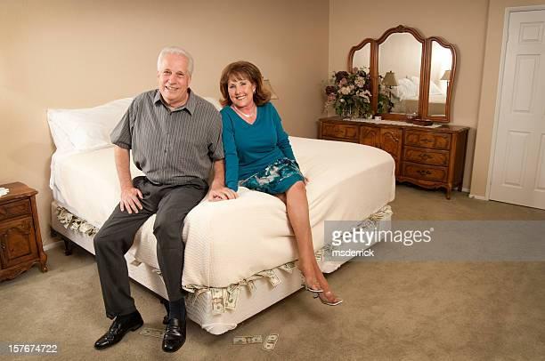 Money Under Mattress Couple
