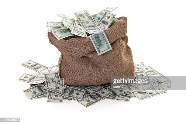 moneybag with a dollar - money bag stock pictures, royalty-free photos & images