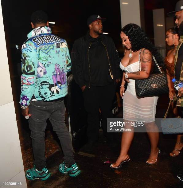 Moneybagg Yo and Ariana Fletcher attend Summertime shootout 3 Album Release Party at Gold Room on December 7 2019 in Atlanta Georgia