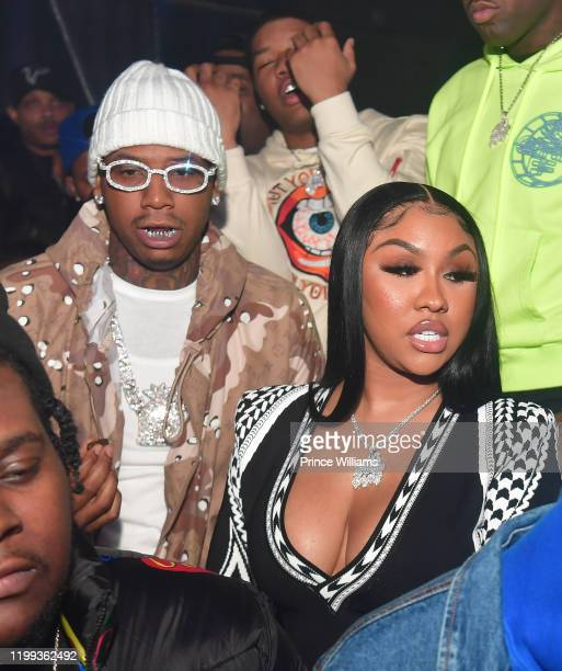 Moneybagg Yo and Ariana Fletcher attend Time Served Album Release Concert After Party at Gold Room on January 10 2020 in Atlanta Georgia