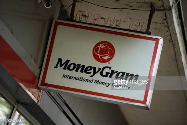 A MoneyGram office is seen in central Bucharest Romania on April 30 2019