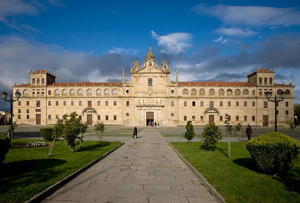 "Monforte de Lemos. Lugo. Monasterio Colegio de la Compania. Herrerianian Style; valued as one of the architectonic galicia's treasures, and know as the ""Galician Escorial""."