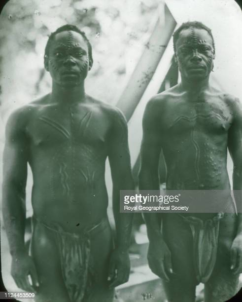 Mongo boatmen from Upper Congo From a collection of images taken by English Baptist Missionary George Grenfell and his Jamaican wife between 1884 and...