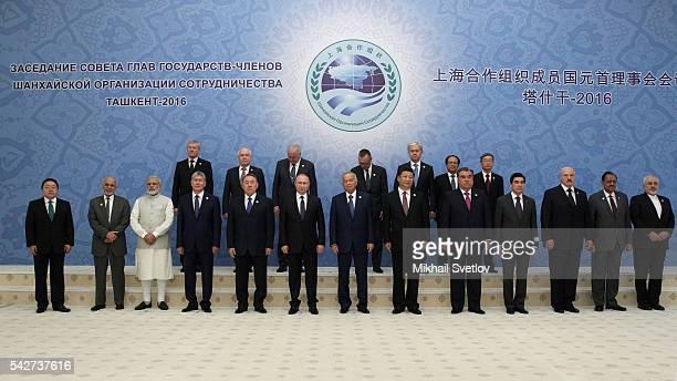 Mongol President Tsakhiagiin Elbegdorj Afghan President Ashraf Ghani Indian Prime Minister Narendra Modi Kyrgyz President Almazbek Atambayev Kazakh...