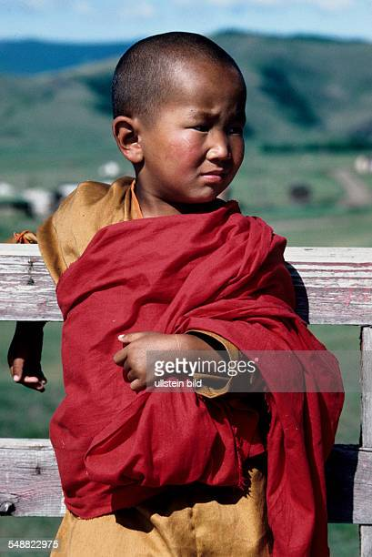 Mongolia, a six-year-old Buddhist novice in the monastery Amarbayasgalant.