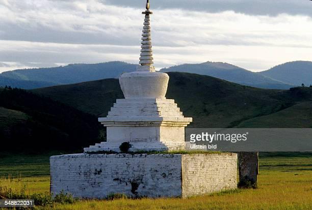 Mongolia, a Stuhpa, a Buddhist place of worship beside the monastery Amarbayasgalant.