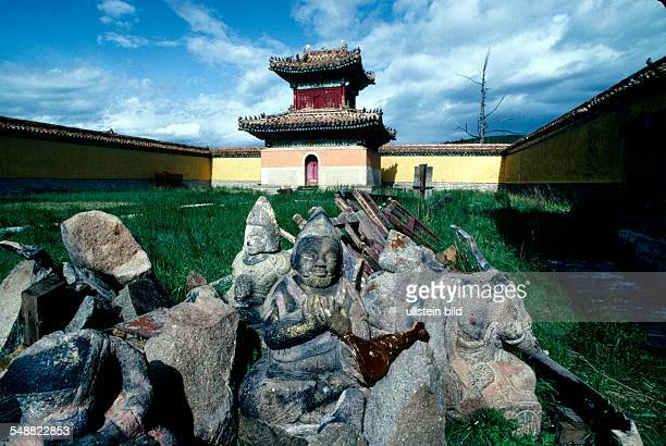 Mongolia, Buddhas destroyed by the old communist regime in the monastery Amarbayasgalant.