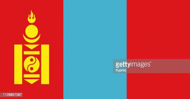 mongolia flag - mongólia imagens e fotografias de stock