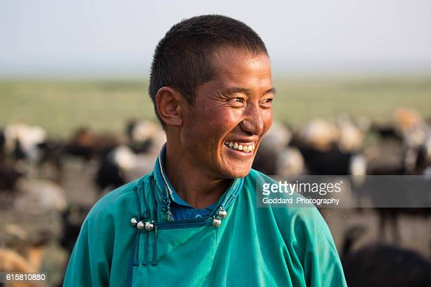 Mongolia: Goatherder