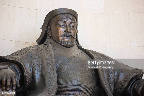 mongolia: government palace in ulan bator - genghis khan stock pictures, royalty-free photos & images