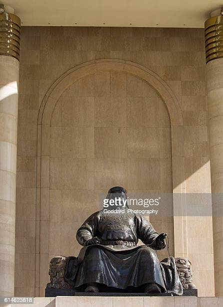 mongolia: government palace in ulan bator - kubla khan stock photos and pictures
