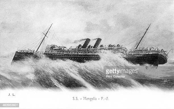 SS 'Mongolia' in heavy seas c1903c1917 The 'Mongolia' was a 9509 ton passenger and cargo liner built for the Peninsular and Oriental Steam Navigation...