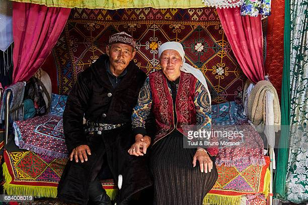 Mongolia, Kazakh nomads in the yurt