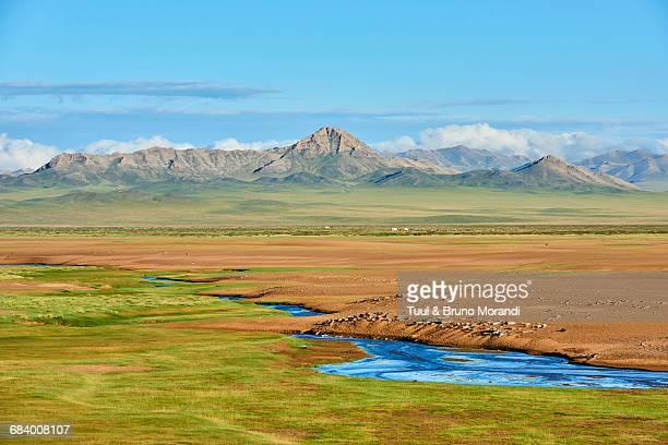 Mongolia, landscape of sand dune