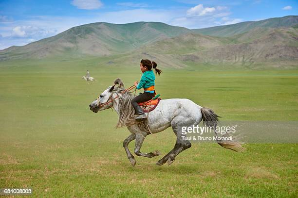 mongolia, naadam festival, horse racing - independent mongolia stock pictures, royalty-free photos & images