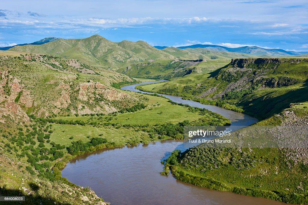 Mongolia, Orkhon river, canyon : Stock Photo