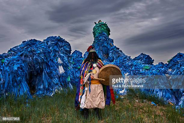 mongolia, shaman ceremony - independent mongolia stock pictures, royalty-free photos & images