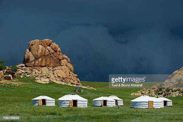 Mongolia, tourist camp at Batkhan national parc.