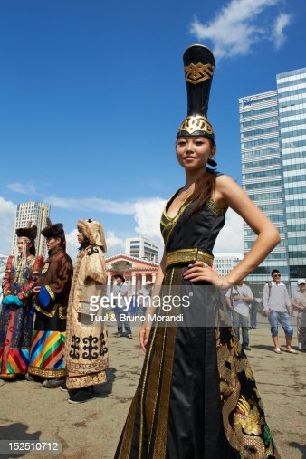 Mongolia Ulan Bator Costume Festival Stock Photo Getty
