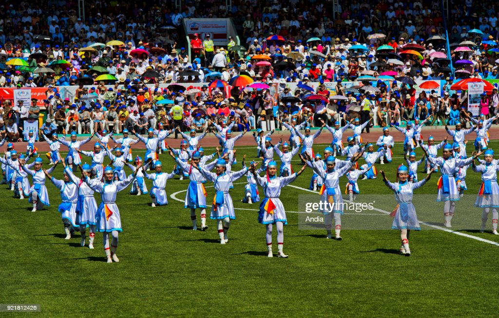 dance group at the Naadam Festival.