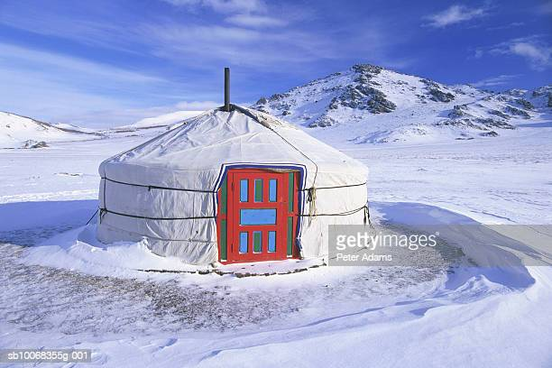 Mongolia, White Lake, Ger (Yurt)