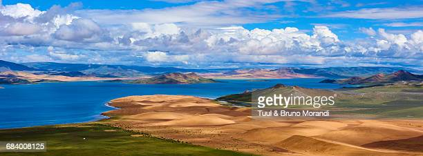 mongolia, zavkhan, khar nuur lake - semi arid stock pictures, royalty-free photos & images