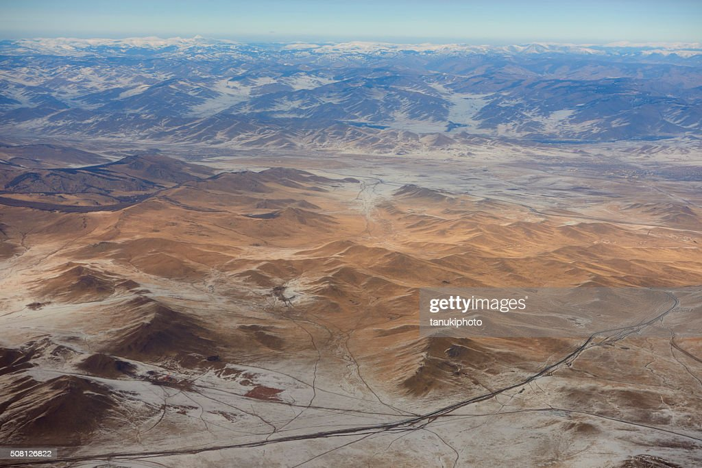 Mongolian Aerial View : Stock Photo