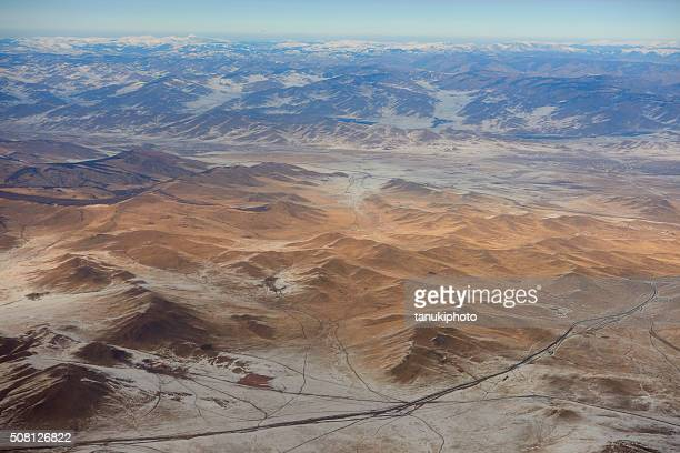 mongolian aerial view - independent mongolia stock pictures, royalty-free photos & images