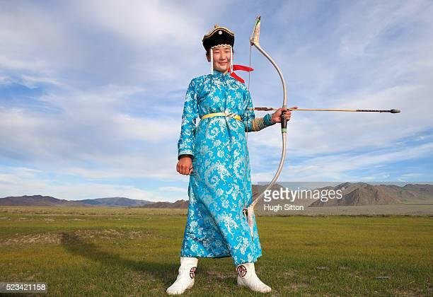 mongolian archer - hugh sitton stock-fotos und bilder