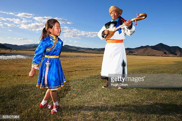 mongolian dancers - hugh sitton stock-fotos und bilder