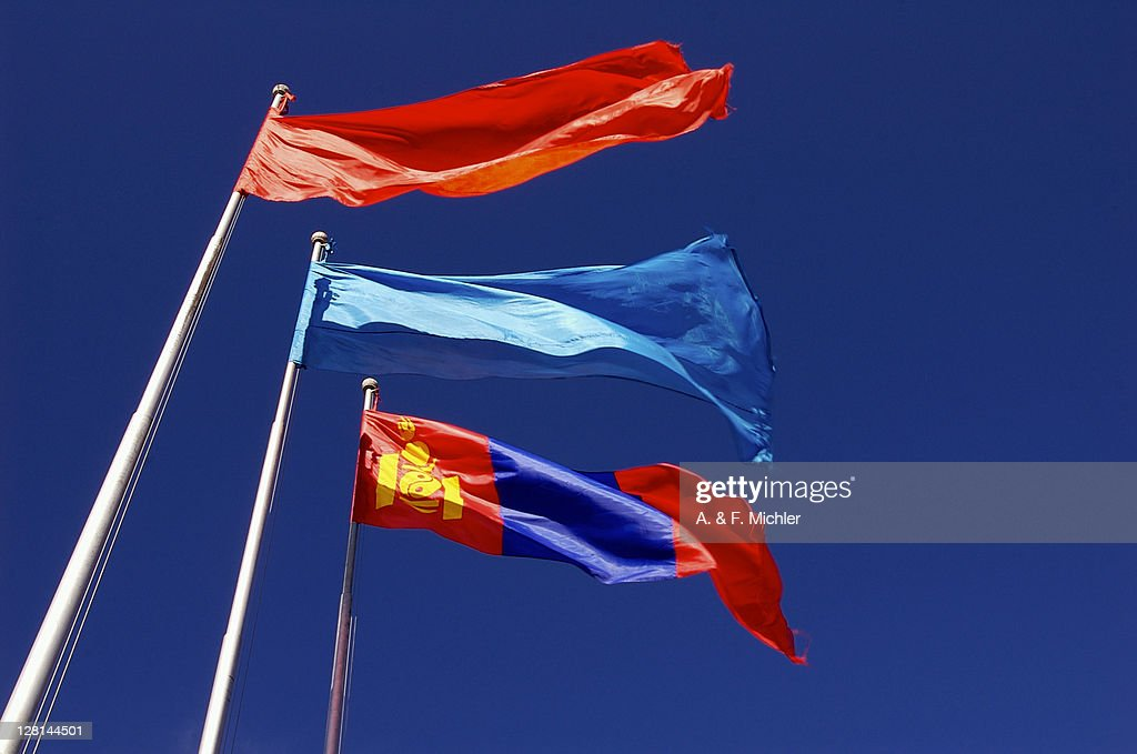 Mongolian Flag With Red And Blue Flags Red Is A Symbol Of Prosperity