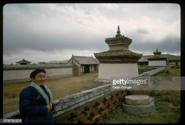 Mongolian Tourist Visiting Lamasery