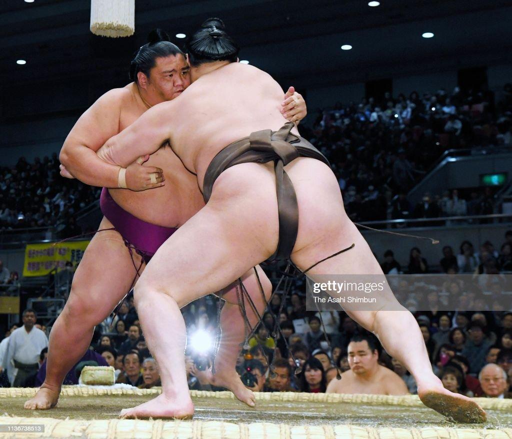 JPN: Grand Sumo Spring Tournament - Day 9