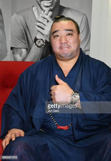 Mongolian yokozuna Harumafuji attends the Neymar Jr x Gaga Milano Watch Collection Press Event at Gaga Milano Harajuku store on May 30 2017 in Tokyo...