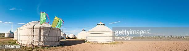 mongolia yurta village grassland tiendas prairie panorama interior de china y mongolia - hohhot fotografías e imágenes de stock