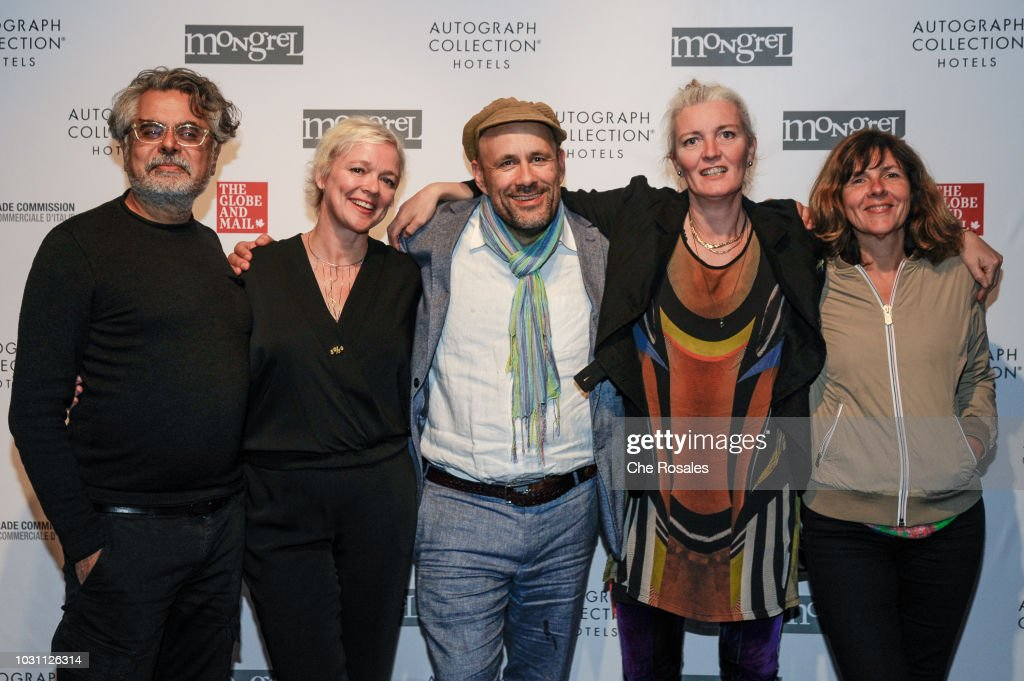 Mongrel Media President Hussain Amarshi (L) with the cast and crew of 'Woman At War' attend the 'Woman At War' Party hosted by Mongrel Media at Mongrel House on September 10, 2018 in Toronto, Canada.
